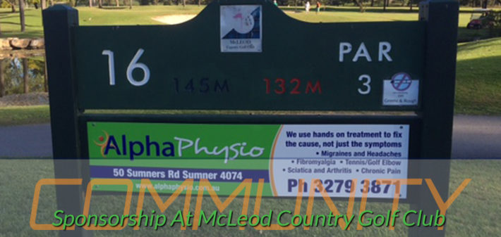Sponsorship McLeod Country Golf Club Mount Ommaney Queensland